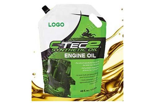 engine oil spout pouch