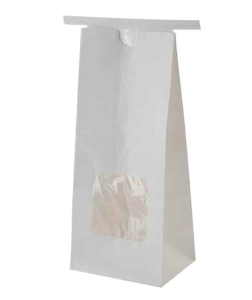 white paper pouch