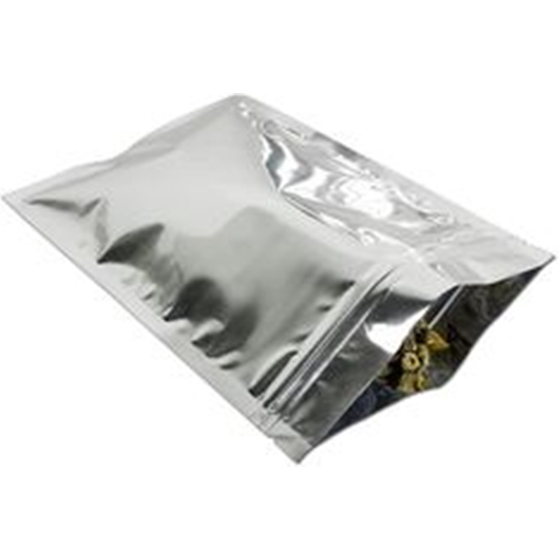 Mylar bag with a reusable zip lock
